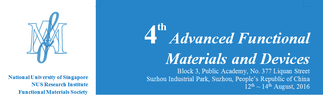 Conference announcement: 4th Advanced Functional Materials and Devices